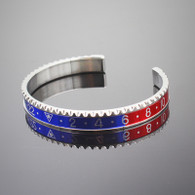 Silver Pepsi Blue-Red Titanium Steel Rolex Watch Bezel Wrist Bangle Bracelet Speedometer GMT-MASTER Oyster