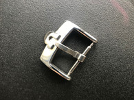 Stainless Steel Buckle Marked Omega Logo With 16mm Spring Bar For The 19mm Leather Strap