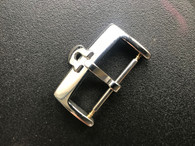 Stainless Steel Buckle Marked Omega Logo With 20mm Spring Bar For The 22mm Leather Or 20mm Nato Strap