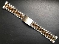 Signed 10k Gold Filled 20mm Jubilee Style 2-Tone Highest Quality Watch Band Bracelet Strap For Vintage Mens 36mm ROLEX DATEJUST Watch