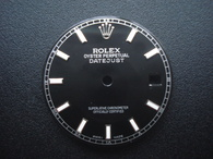 28mm Black Dial Marked ROLEX Symbol With Luminous Sticks And Date Window Fit ETA 2836 Or 2824 Or MIYOTA 8215 Automatic Movement For Mens DATEJUST Watch