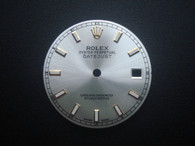 116234 28mm Silver Sunburst Dial Marked ROLEX Symbol And Roman Numerals With Golden Sides Luminous Sticks And Date Window Fit ETA 2836 Or 2824 Or DG 2813 Or Miyto 8215 Movement For Mens 2-Tone Or Golden DATEJUST Watch