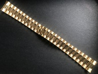 20mm Signed Stainless Steel Golden President Watch Band Bracelet Strap Flat End Pieces For Vintage 36mm ROLEX Gold DAY-DATE Watch