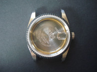 ROLEX Signed Vintage Style of 36mm Stainless Steel DATEJUST Watch Case With Fluted Bezel And 20mm Lugs Size Fit ETA 2836 Movement And Dial In 28.0mm