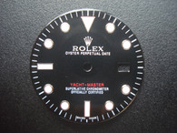 29.1mm Black Dial Marked Rolex Symbol For Mens Steel YACHT-MASTER Watch Fit DG 2813 Or MIYOTA 8215 Automatic Movement With DWO