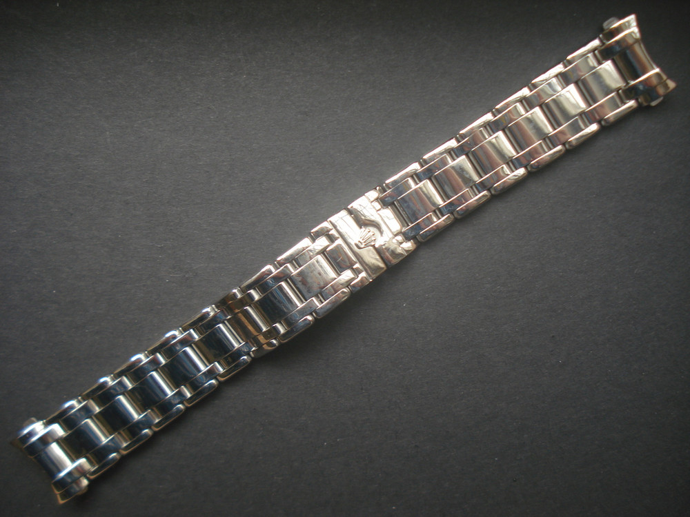 20mm Solid Steel Band Bracelet With Signed Hidden Clap And Hollow Curved  End Pieces For Mens 36mm ROLEX DATEJUST EXPLORER PEARLMASTER Or MASTERPIECE