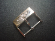 Stainless Steel Buckle Marked Breitling Logo With 20mm Spring Bar For The 22mm Or 24mm Leather Strap