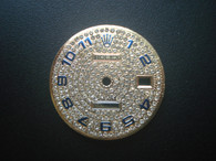 28.6mm Champagne Dial Marked Rolex Symbol WIith Full Rhinestones And Blue Numbers For Mens 2-one or golden DATEJUST Watch Fit ETA 2836 Or DG 2813 Or MIYOTA 8215 Automatic Movement With DWO