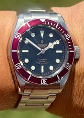 Tudor Heritage Black Bay 79220R 41mm Watch Set With Red Bezel And Dial Marked Rose Logo Has Super Luminova Fit ETA 2824 Movement