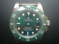 Steel Black Rolex 116610 Submariner Watch Set In Higher Quality With Green Ceramic Bezel And Super Luminova Fit ETA 2836 Movement Without Using the DWO