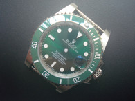 Steel Green Rolex 116610 Submariner Watch Set In Higher Quality With Green Ceramic Bezel And Super Luminova Fit ETA 2836 Movement Without Using the DWO