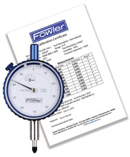 """Fowler - 0.250"""" Whiteface Premium Dial Indicator with Certificate of Calibration 52-520-125-0 **Tool-A-Thon pricing valid till 8/31/20**"""