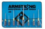 Armstrong - 8 PC Cushion Grip Screwdriver Set Slot & Phillips w Vinyl Roll / 66-612