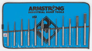 Armstrong - 12 PC Punch & Chisel Set IN Vinyl Roll USA Mfg 70-565