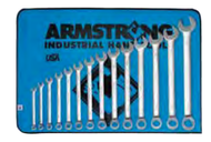Armstrong - 14 Pc. 12 Pt Metric Standard Pattern Satin Combination Wrench Set  10mm - 19mm/ 52-607/ Free Shipping