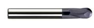 Melin - 1/32 - 1/2 - 2 Fl  Ball Nose Carbide End Mills for Milling in Hard Die Mold Steel  nACo