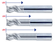 """1/4"""" - 1"""" - Melin 3 Fl. Fine Th. Rougher for High Velocity Machining"""