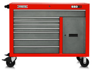 """Proto - 550S 50"""" Workstation - 8 Drawer & 1 Shelf, Safety Red and Gray J555041-8SG-1S"""