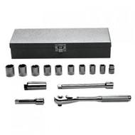 ALLEN - 14 Pc 3/8 Dr Socket Set 12 Pt 10mm -19mm  USA Mfg 19117A