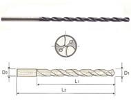 YG1 -  DH510031 - 3.10 mm x 46 mm loc x 97 mm oal Carb Coolant Fed Drill MQL TiAlN (10XD)