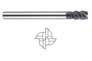"X-Power - 1/2"" x 6"" oal SE 4 Fl 45 Deg Helix Long Reach Ultra Fine Carbide End Mil l 93396"