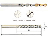 YG - 1.7 MM Gold-P  5%CO HSS J.L Drill 135 Deg Split Point Tin Tipped - DLGP195017  10 Ea