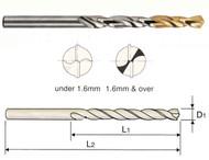 YG - 12.8 MM Gold-P  5%CO HSS J.L Drill 135 Deg Split Point Tin Tipped - DLGP195128 05 Ea