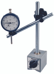 Mitutoyo - Magnetic Stand 7010S and Indicator 2416S/ 64PKA079 - 134 Pound Clamping Presssure