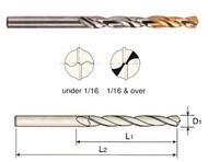 """YG-1 - 1/2"""" M42 Cobalt Jobber Drill 135 Deg Split Point Tin D2GP185032 05 EA"""