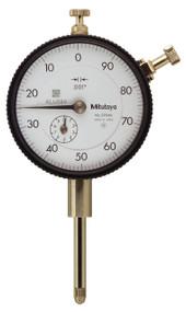 "Mitutoyo - .001-1"" Dial Indicators Reverse Read w Flat Back 2904SB"