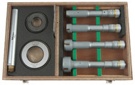 """Mitutoyo - .8 - 2"""" Holtest 8 PC Internal Micrometer Set w Tin coated Carb. Cont Pts. 368-918 Free Shipping"""