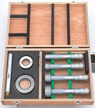 """Mitutoyo - .8 - 2"""" Holtest (Type II) 8 PC Internal Micrometer Set 368-996"""