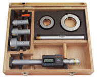 """Mitutoyo - .8 - .2"""" Digimatic Holtest Three-Point Internal Micrometer Set, Tin Coated Contacts SPC w Certification  468-978"""