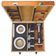 """Mitutoyo - .2-4""""/ 50.8 - 101.6 mm Digimatic Holtest Three-Point Internal Micrometer Set, Tin Coated Contacts SPC  468-979"""