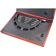 "Starrett - 12""-16""  Range  Interchangable Anvil Micrometer Set w Case 224.1DRLZ  USA Mfg"