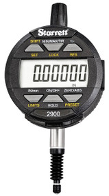 "Starrett - Electronic Indicator .5""/12mm Range IP67 SPC Output - 2900-6  09985 USA Mfg"