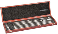 "Starrett - 823EZ  / Inide Micrometer Set  4"" - 40"" Range w Case 53056 USA Mfg"