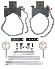 Starrett - Shaft Alignment Clamp Set w 2 Ea Chain Clamps & 196B5 Indicators and Fitted Case S668CZ 67152 USA Mfg