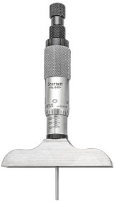 """Starrett- 449AZ-3R Depth Micrometer 0-3""""  0.0001 Grad w 2-1/2""""  Base/ 52318"""