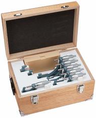 "Mitutoyo - 0-6"" Outside Micrometer Set .001 RA W/STD Hammertone Baked Enamel 103-904-10"