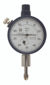 "Mitutoyo - Dial Indicator  .001-.25"" Series 1-Compact Type-Small Diameter 1410SB"