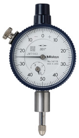 "Mitutoyo - Dial Indicator .001-.25"" Series 1-Compact Type-Small Diameter 1411S"