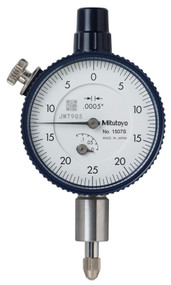 "Mitutoyo - Dial Indicator .0005-.125"" Series 1-Compact Type-Small Diameter 1507S"