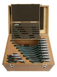 "Mitutoyo - 0 - 12"" Outside Micrometer Set .0001 W/STD Hammertone Baked Enamel 103-908-40"