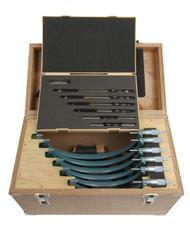 "Mitutoyo - 6 - 12"" Outside Micrometer Set .0001 W/ST Hammertone Baked Enamel 103-909"