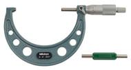 """Mitutoyo - 4"""" Micrometer .001 RA Hammertone Baked Enamel w Certificate 103-180"""