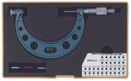 """Mitutoyo - 3-4"""" Screw Thread Micrometer .001 Hammertone Baked Enamel 126-140"""