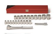 "Wright Tool - 1/2"" Dr 22 Pc 12 Pt. Standard Metric Socket Set (9mm - 32mm) USA Mfg"