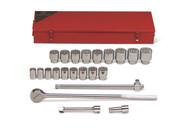 "Wright Tool - 22 Pc 3/4"" Dr 12 Pt. Standard Socket Set, 7/8 - 2"",  623 USA Mfg"