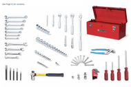 "Wright Tool - 98 Pc Basic Service Set—1/4"", 3/8"" & 1/2"" Drives 160 USA Mfg"